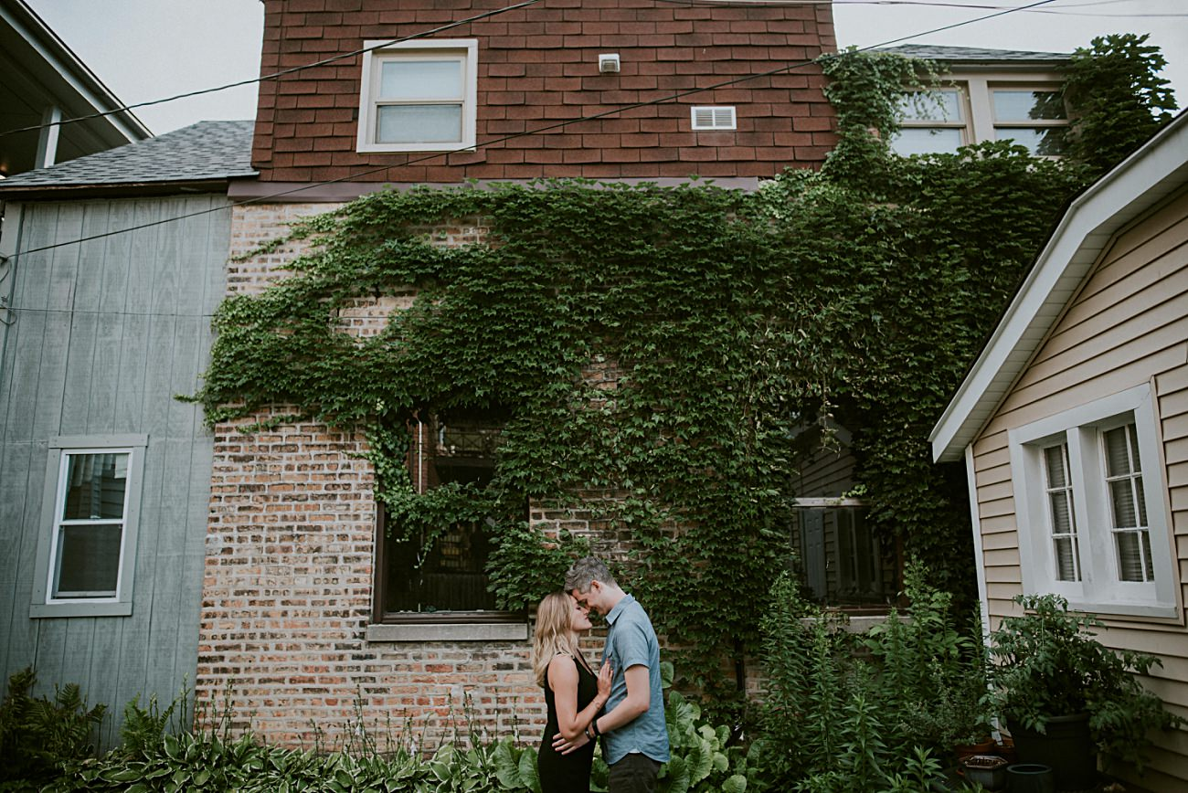 Backyard Engagement in Chicago, Chicago In Home Engagement Session, Chicago Wedding Photographer - natural intuition photography