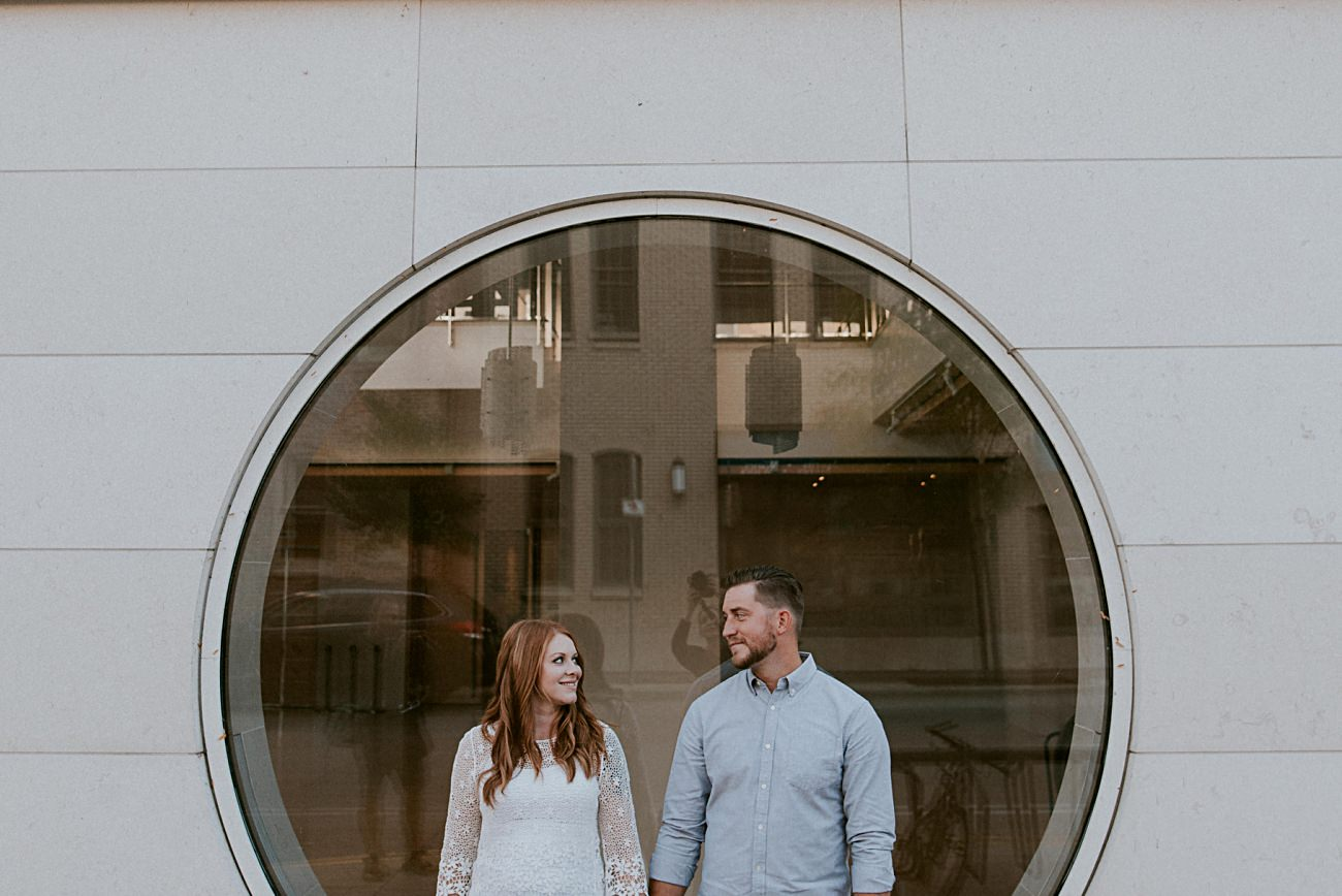 Modern Museum Madison, Downtown Engagement in Madison Wisconsin, Urban Engagement, Madison WI Wedding Photographer
