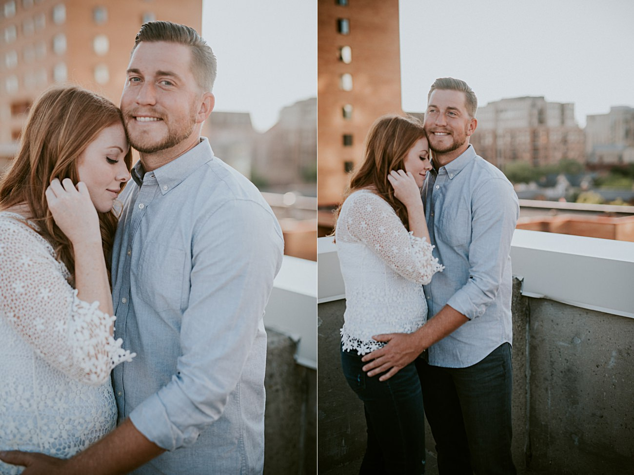 Parking Garage Engagement, Downtown Engagement in Madison Wisconsin, Urban Engagement, Madison WI Wedding Photographer