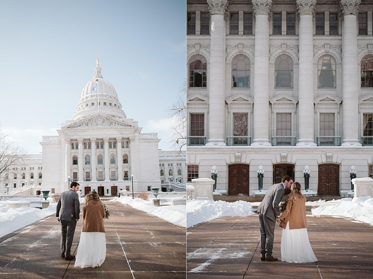 Madison Wisconsin Courthouse Elopement Wedding, Madison Wisconsin Wedding Photographer, Courthouse wedding, Wisconsin Elopement Photographer