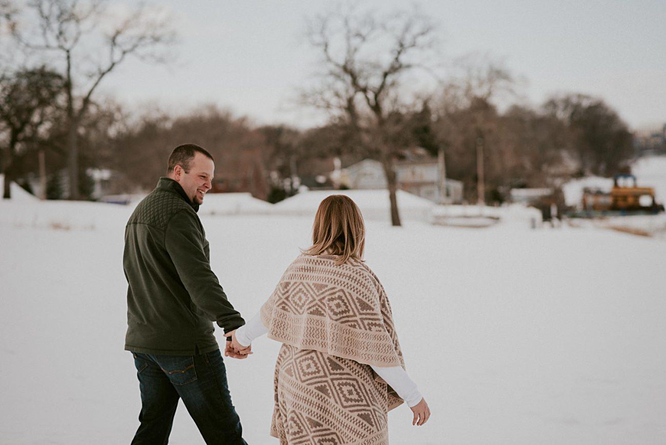 Winter Engagement in Olin Park Madison Wisconsin, Winter Wedding Photographer