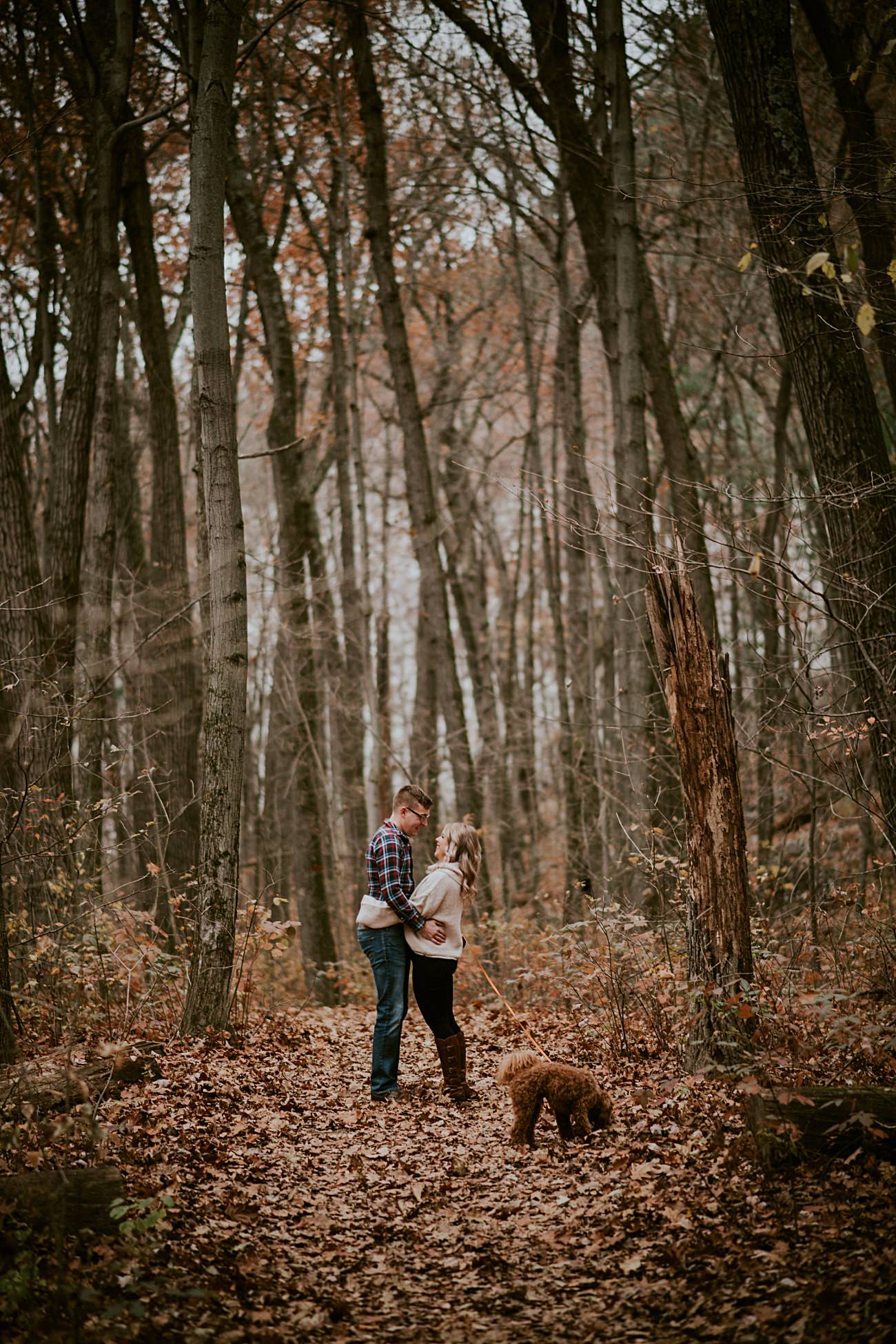 Mountain Engagement, Hiking Engagement, Engagement with Dogs, Bluff Engagement Session in Wisconsin, Madison WI Photographer