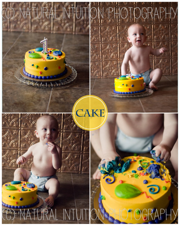 Stevnens Point Wisconsin Family Photographer, Cake Smash, 1 Years Old, Custer Wisconsin