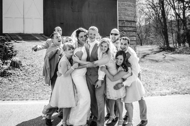 Bridal Party Photo Ideas, Bridal Party Poses, Wedding Inspiration, Madison Wisconsin Wedding Photographer