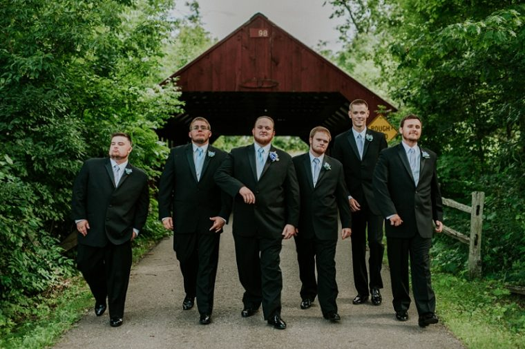 Wausau Wisconsin Wedding, Blue and Purple Bridesmaid Dresses, Cowboy boots