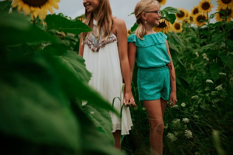 Family Photography, Sunflower Family Session, Natural Intuition Photography - Madison Wisconsin