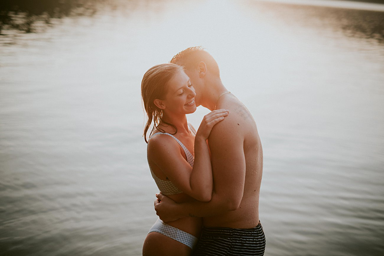 intimate lake engagement in Madison Wisconsin Madison WI Anniversary Photographer