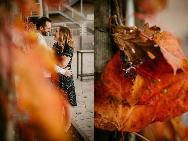 beautiful fall engagement ideas