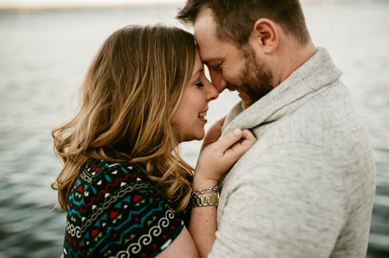 Romantic and Fun Fall Engagement Photo