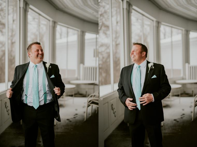 Groom Photos, Indoor Wedding in Unique Wisconsin Venue - Appleton Wisconsin, Madison Wisconsin Wedding Photographer