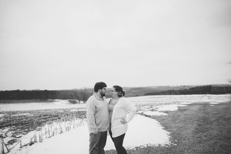 Beautiful Winter Engagement Session at Pope Farms, Madison WI Engagement Session