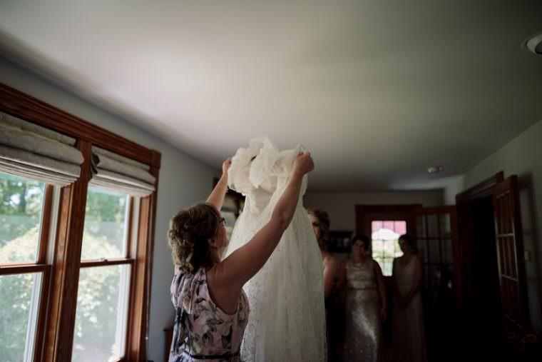 Wisconsin Barn Wedding, Backyard Wedding, Wild Rose Wisconsin, Madison WI Wedding Photographer