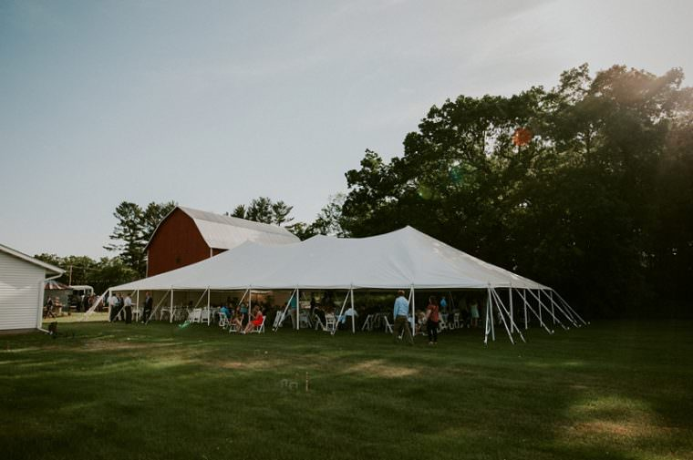 Wisconsin Barn Wedding, Backyard Wedding, Wild Rose Wisconsin