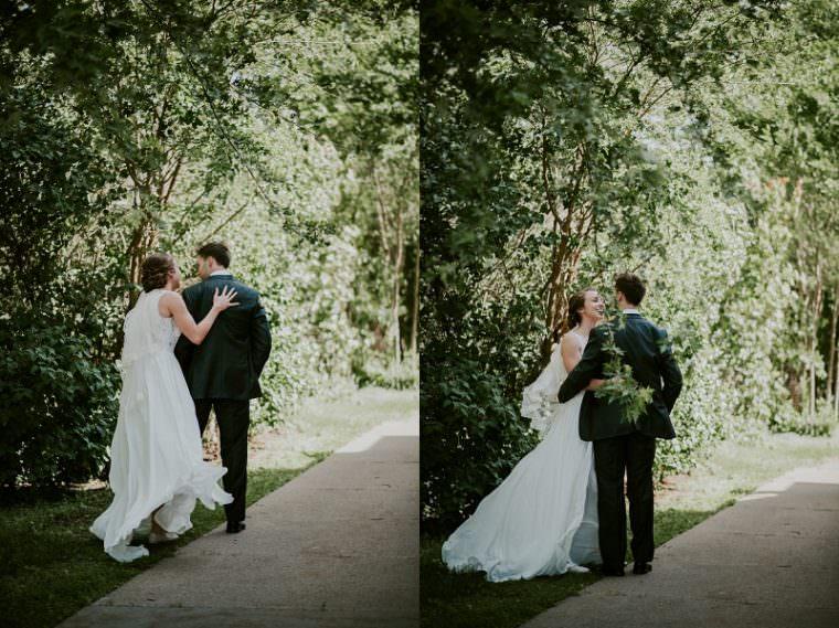 First look, Church Wedding, Wisconsin Wedding, Summer Wedding, Madison WI Wedding Photographer