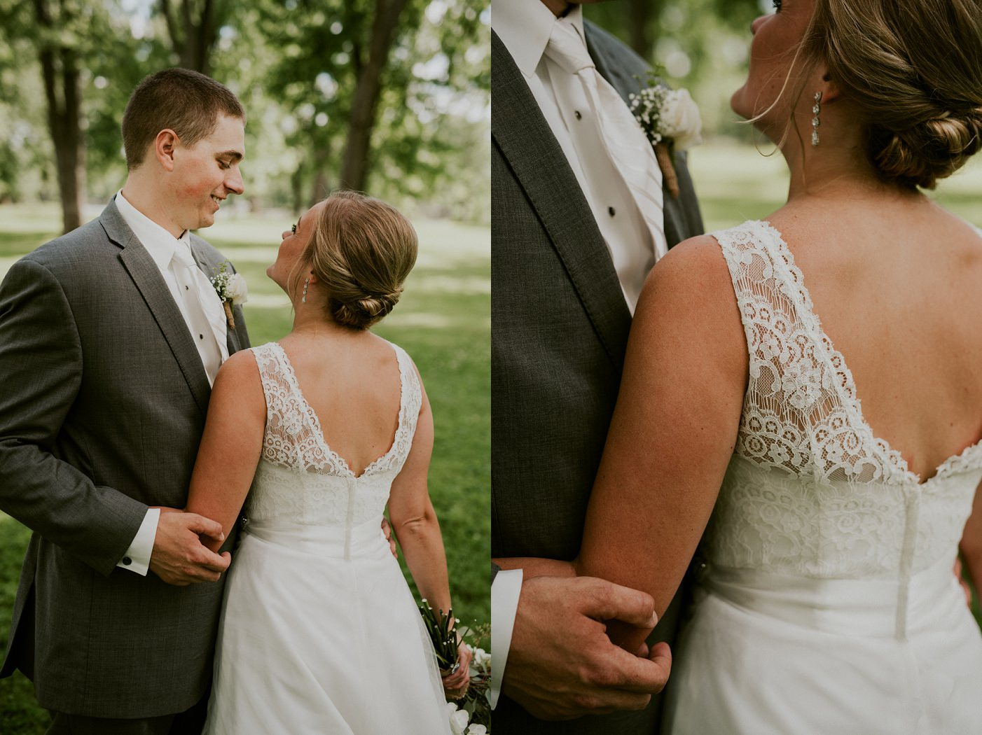 Green and Grey Wedding at Pettibone Park in La Crosse WI