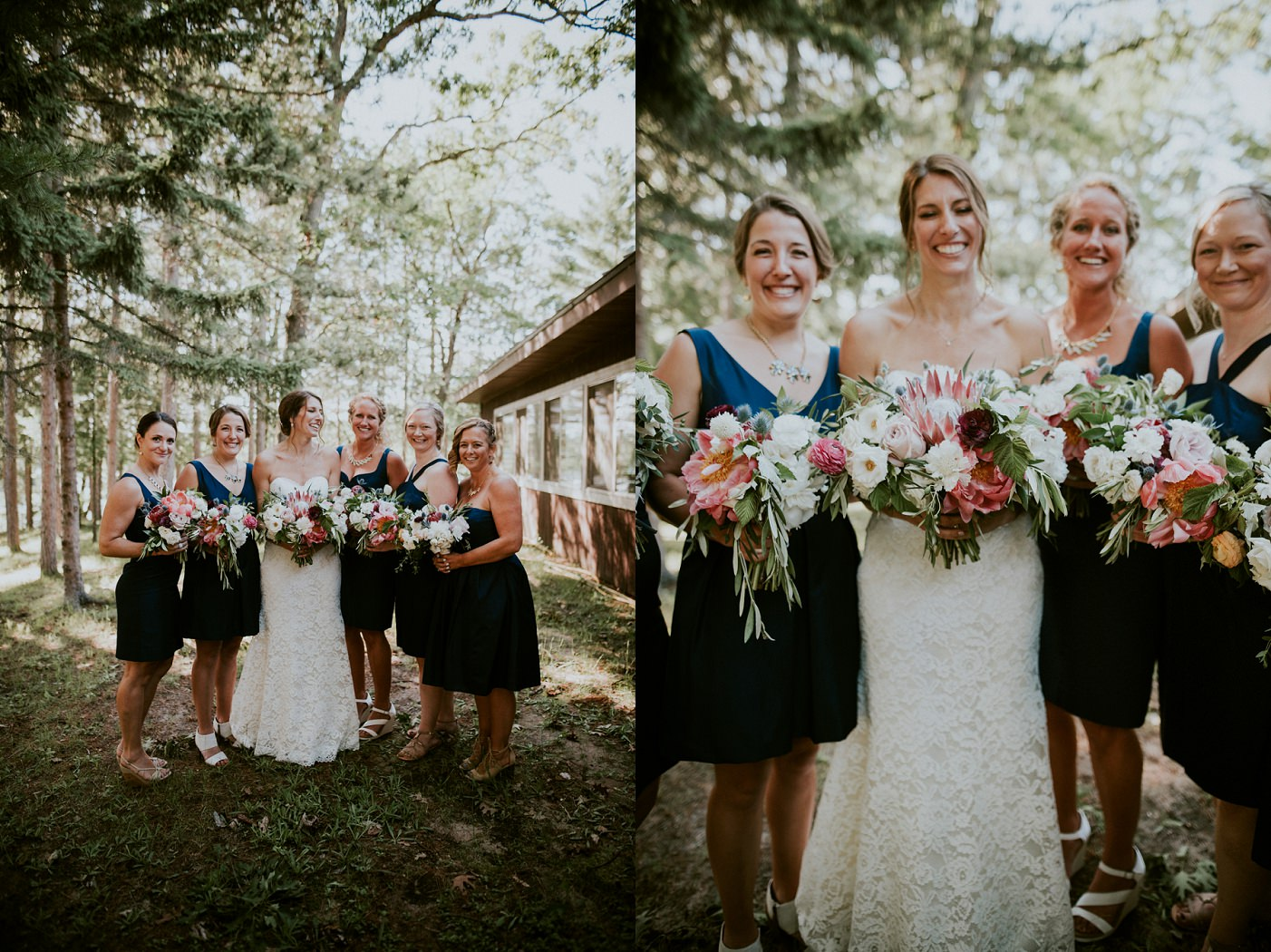 Waupaca Wisconsin Wedding Photographer, Campground Wedding, Madison Wi Wedding Photographer, DIY Flowers