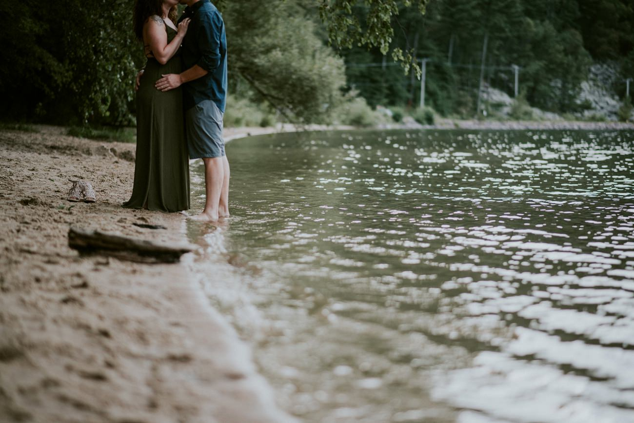 Devils Lake State Park, Anniversary Session, Lake Engagement in Madison Wisconsin