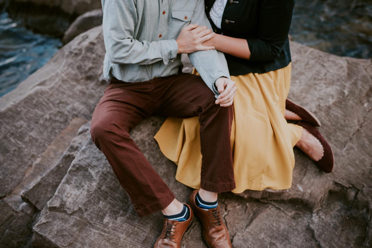 Madison Wisconsin Engagement - Devils Lake State Park