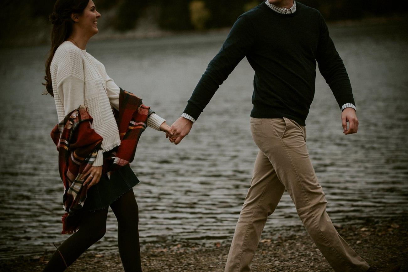 Fall Lake Engagement Session - Madison Wisconsin Photographer