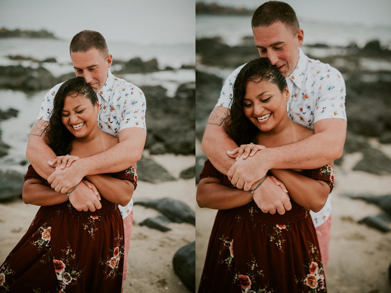 Mexico Destination engagement Photographer beach session - Natural Intuition Photography