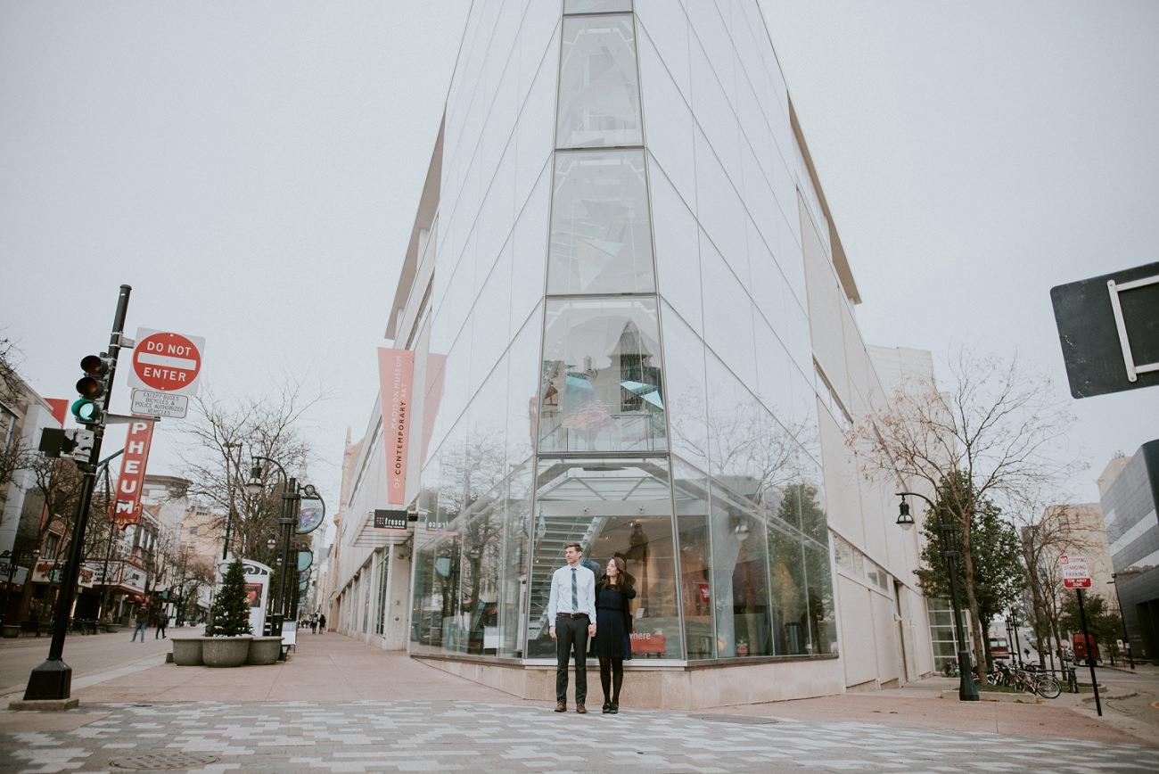 MMoCA Engagement Session - Madison WI Wedding Photographer - Natural Intuition Photography