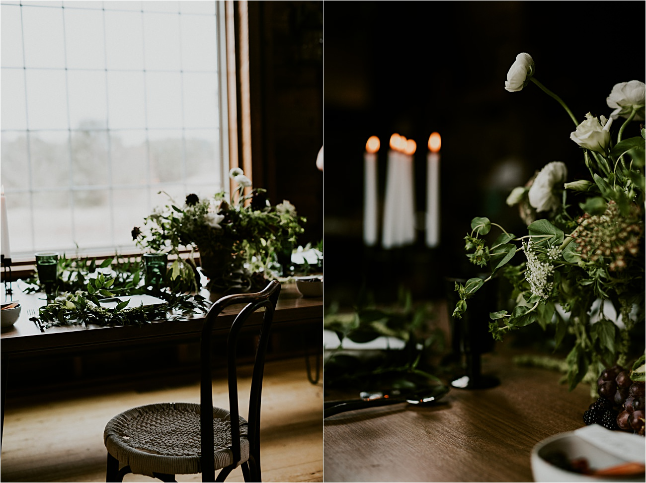 Magnolia Farms Wedding - Moody Wisconsin Wedding - Grey Wedding Dress - Natural Intuition Photography - Wisconsin Wedding Photographer