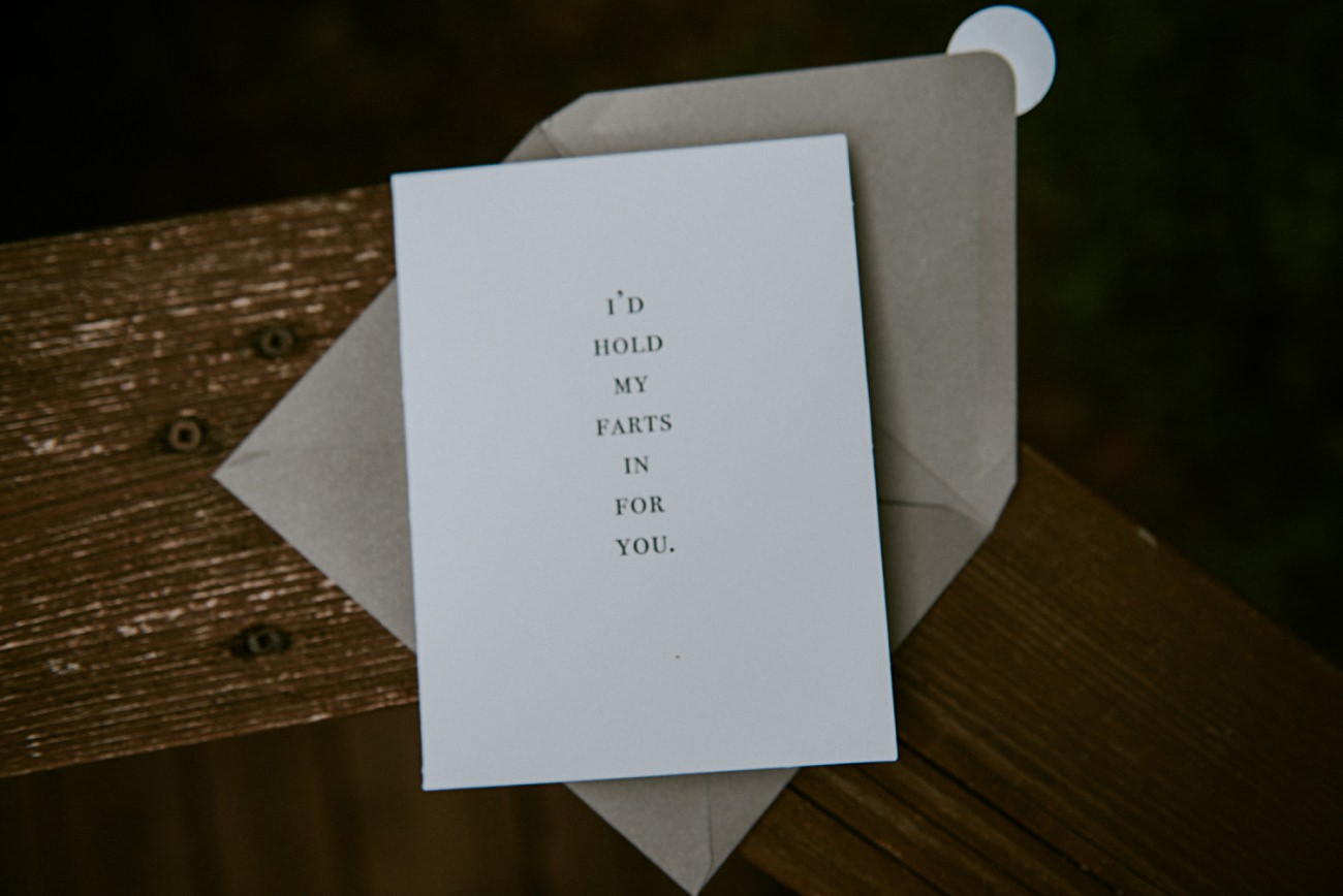 Best Bride Card Ever! Backyard wedding, Milwaukee Wisconsin Wedding Photographer - Natural Intuition Photography