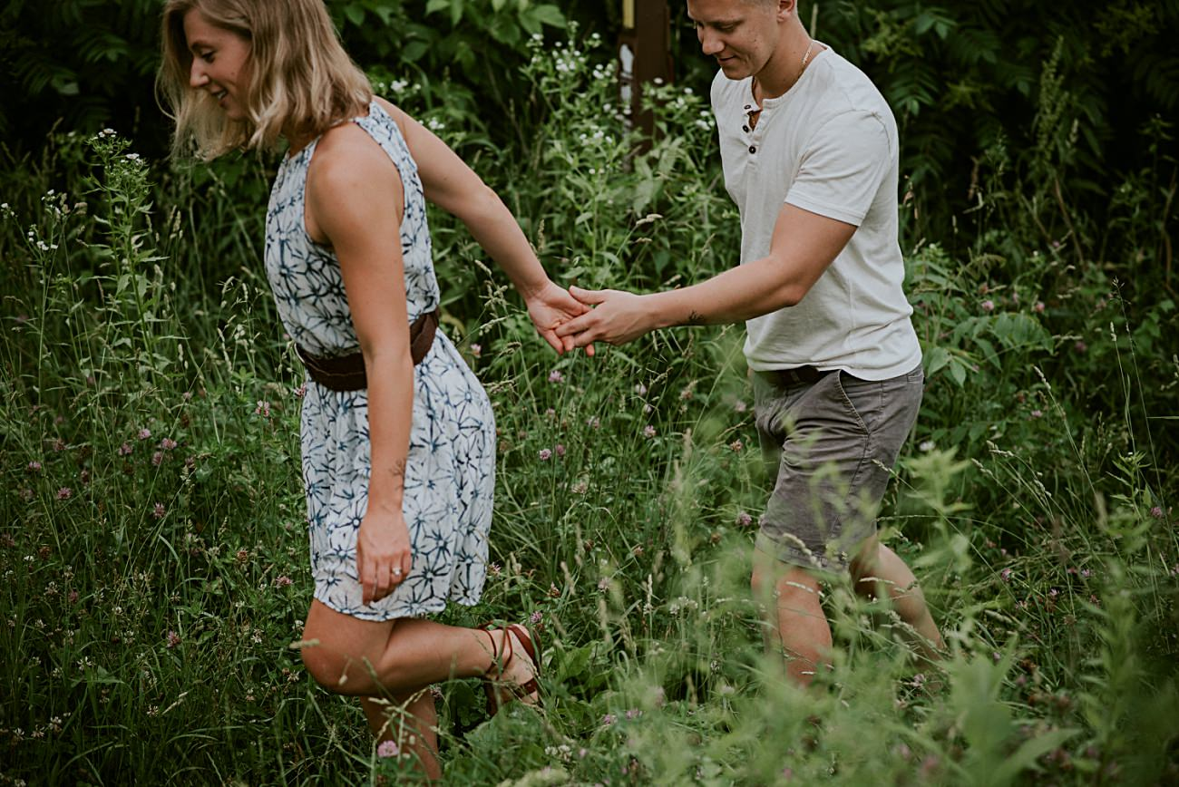 Intimate Devils Lake State Park Session - In water couples session - Madison Wisconsin Photographer