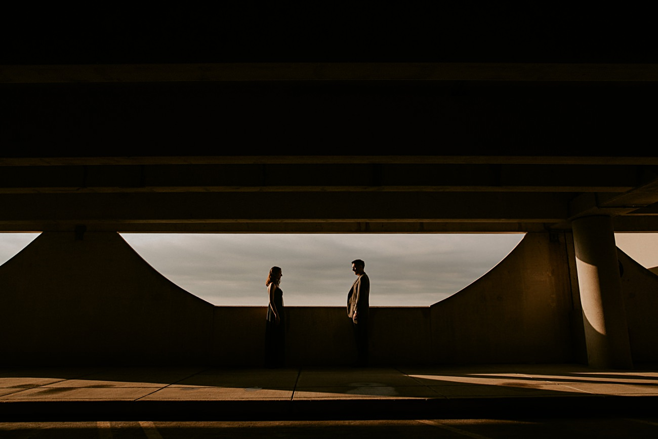 Parking Garage Session - Sunrise Moody Anniversary Session in Madison Wisconsin - Natural Intuition Photography