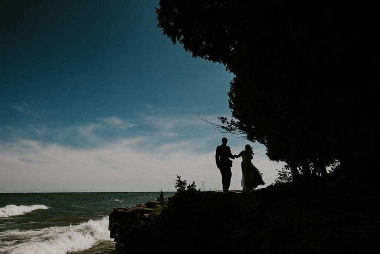 Door County Wisconsin Wedding - Cliff Wedding Photos, Wisconsin Wedding Photographer