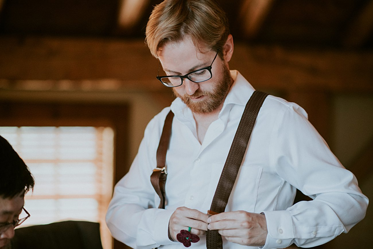 Groom Getting Ready, Mt Horeb Wisconsin Backyard Wedding - Madison Wisconsin Wedding Photographer