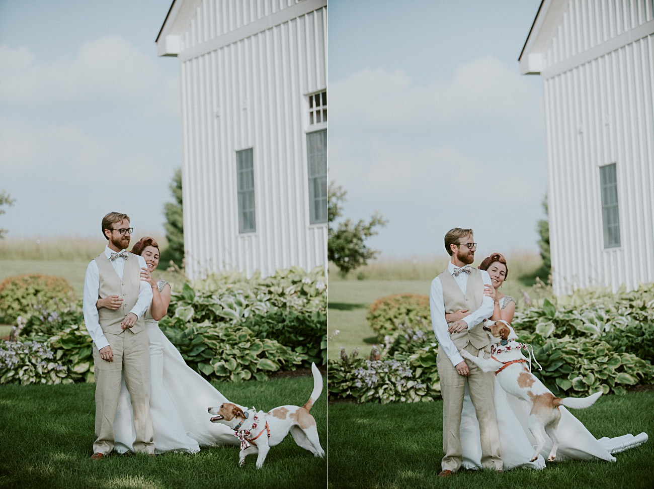 First Look, Mt Horeb Wisconsin Backyard Wedding - Madison Wisconsin Wedding Photographer
