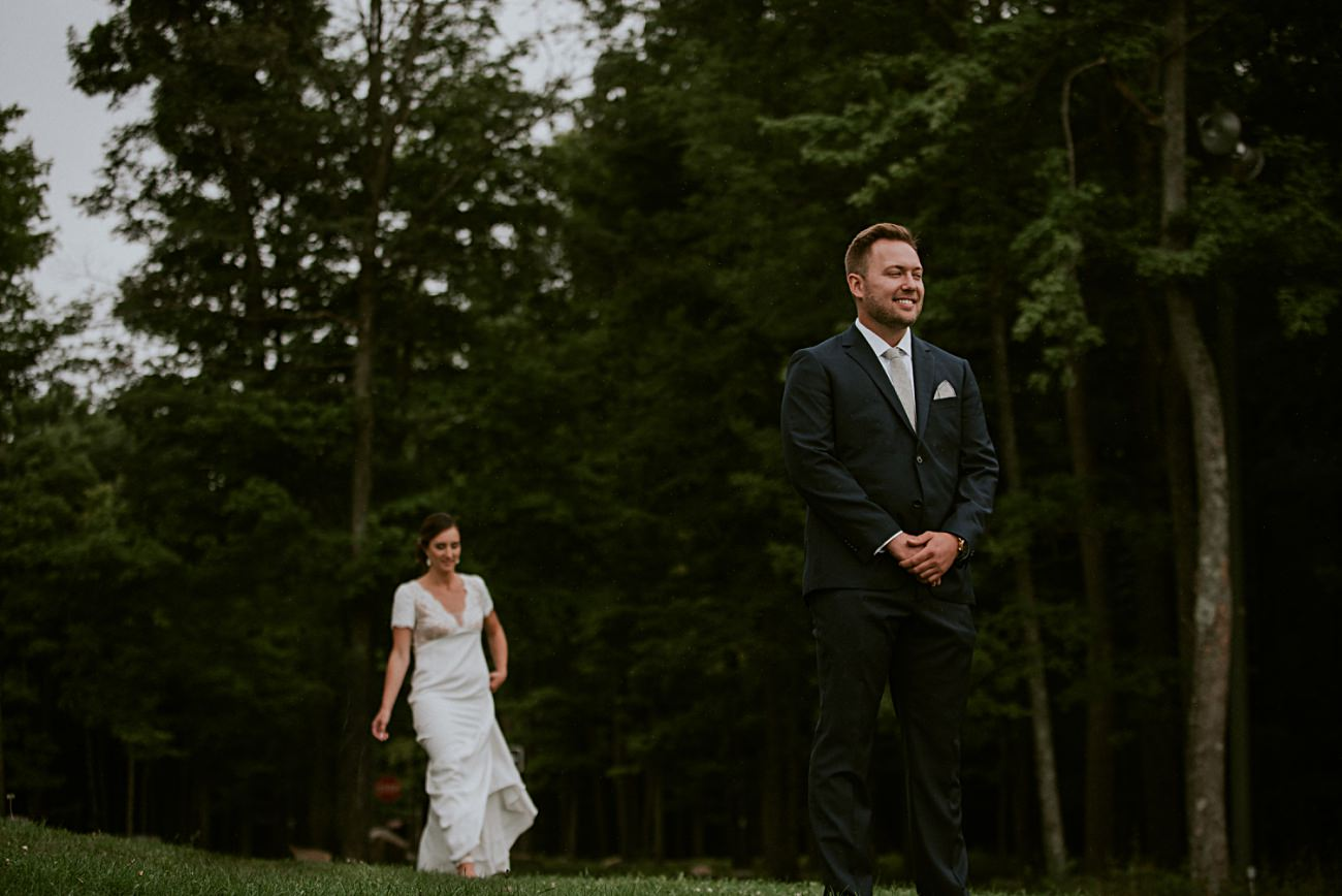 Mountaintop First Look Photos, Rib Mountain Wedding in Wausau Wisconsin - Mountaintop Wedding, Wisconsin Wedding - Natural Intuition Photography
