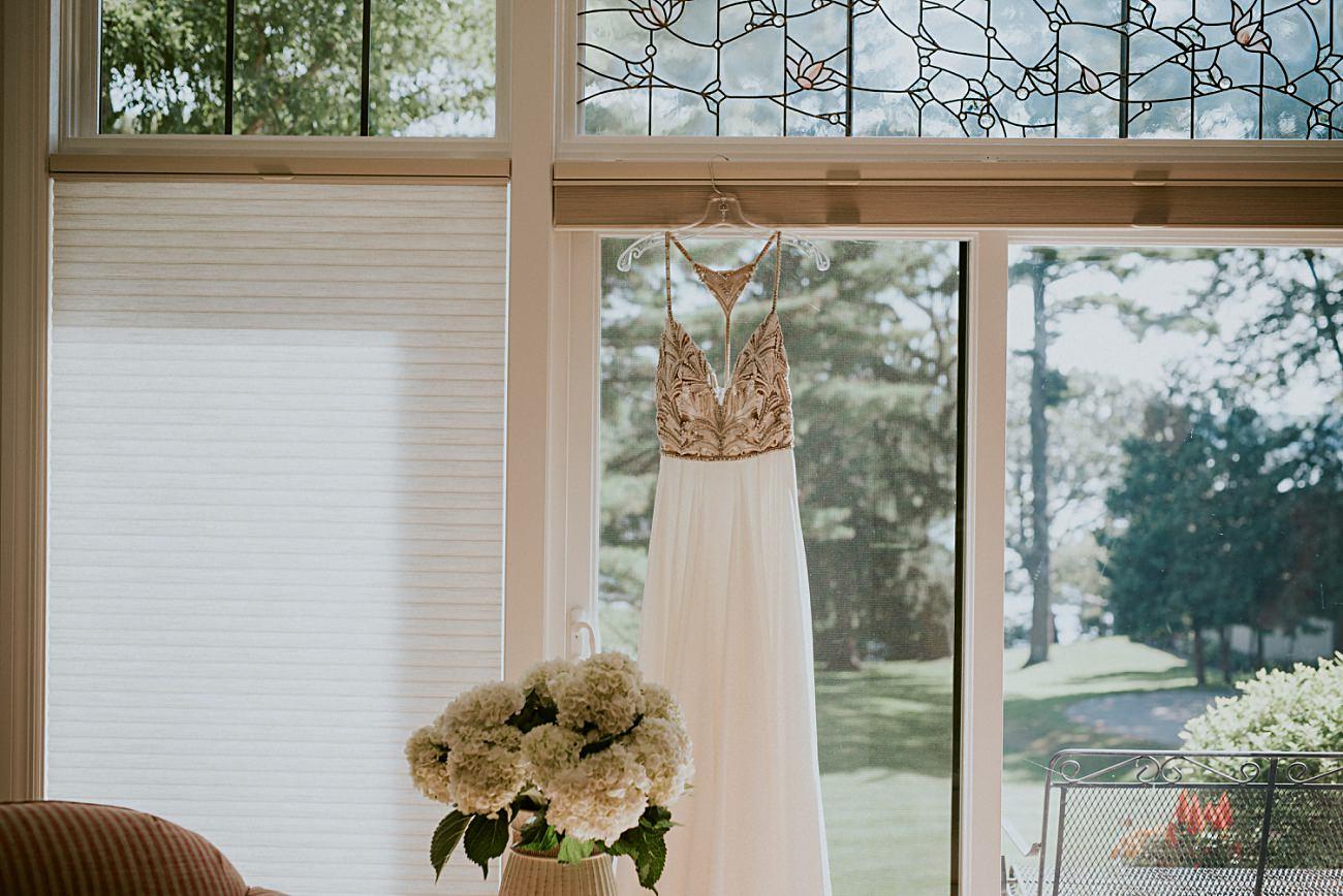 backless wedding dress, Heidel House Wedding - Green Lake Wisconsin Wedding