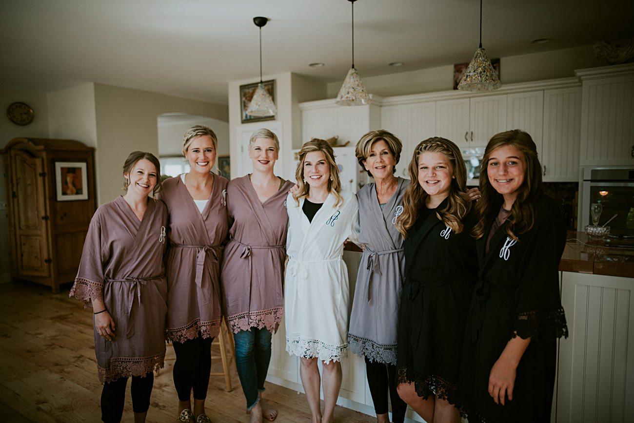 Wedding robes - Heidel House Wedding - Green Lake Wisconsin Wedding