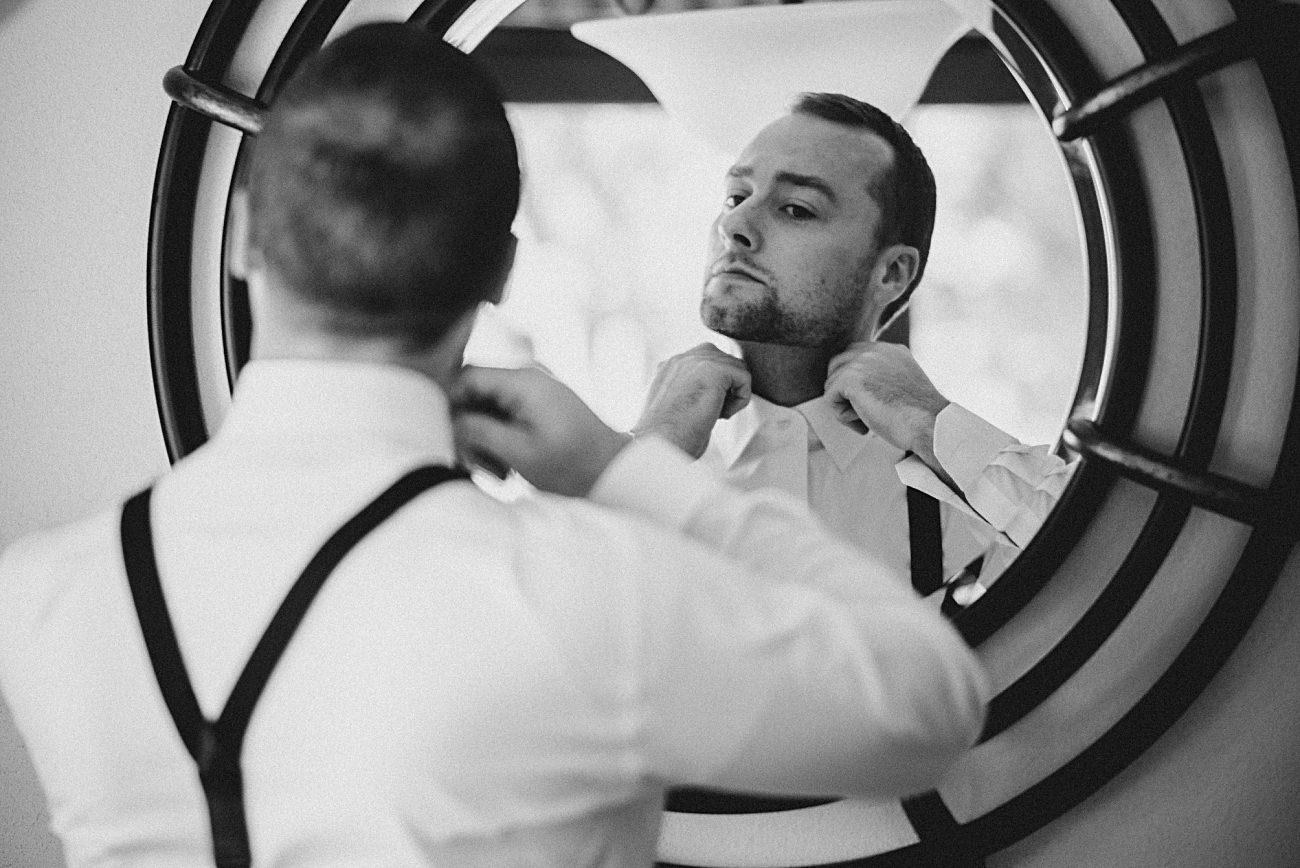 Grooms getting ready, Heidel House Wedding - Green Lake Wisconsin Wedding