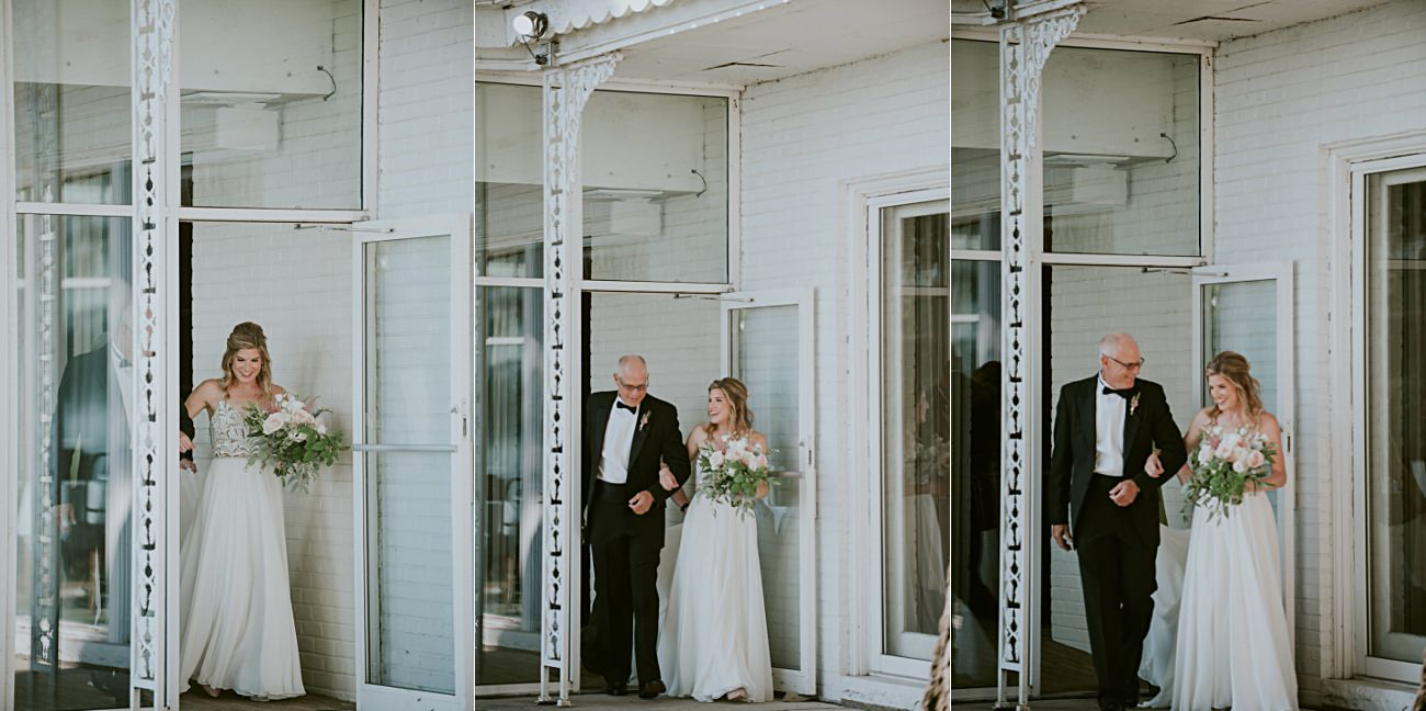 Father and Bride, Lakeside wedding in Green Lake Wisconsin -Heidel House Wedding - Green Lake Wisconsin Wedding