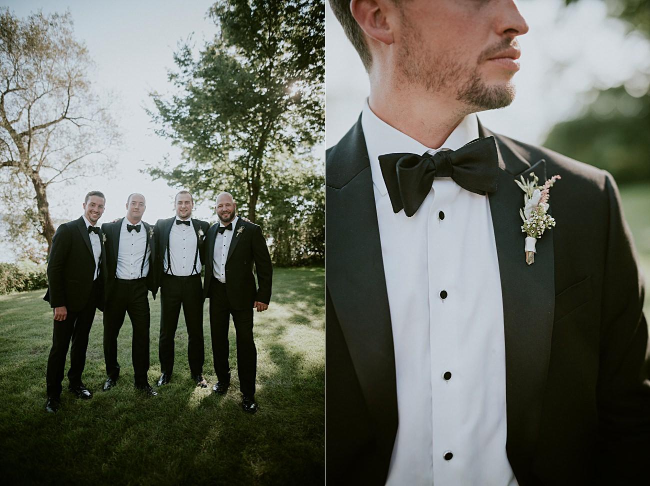 black tie wedding - Lakeside wedding in Green Lake Wisconsin -Heidel House Wedding - Green Lake Wisconsin Wedding