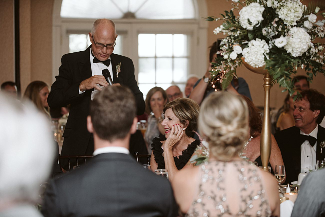 Reception toast photos, Elegant Ballroom Wedding, Gold & Blush Wedding, Lakeside wedding in Green Lake Wisconsin -Heidel House Wedding - Green Lake Wisconsin Wedding