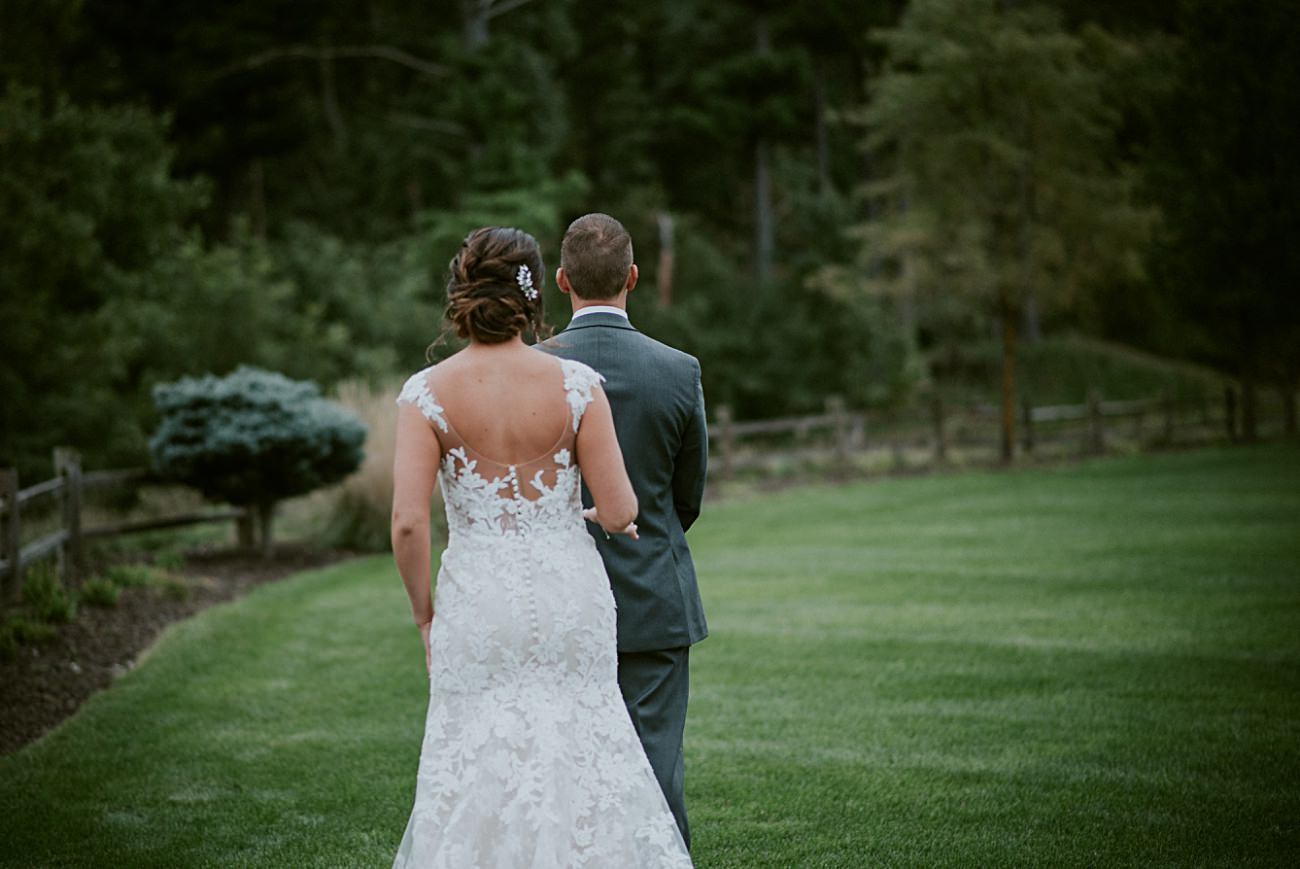 Wisconsin Dells Wedding,, Lace Wedding Dress, First Look Photos, Madison WI Photographer