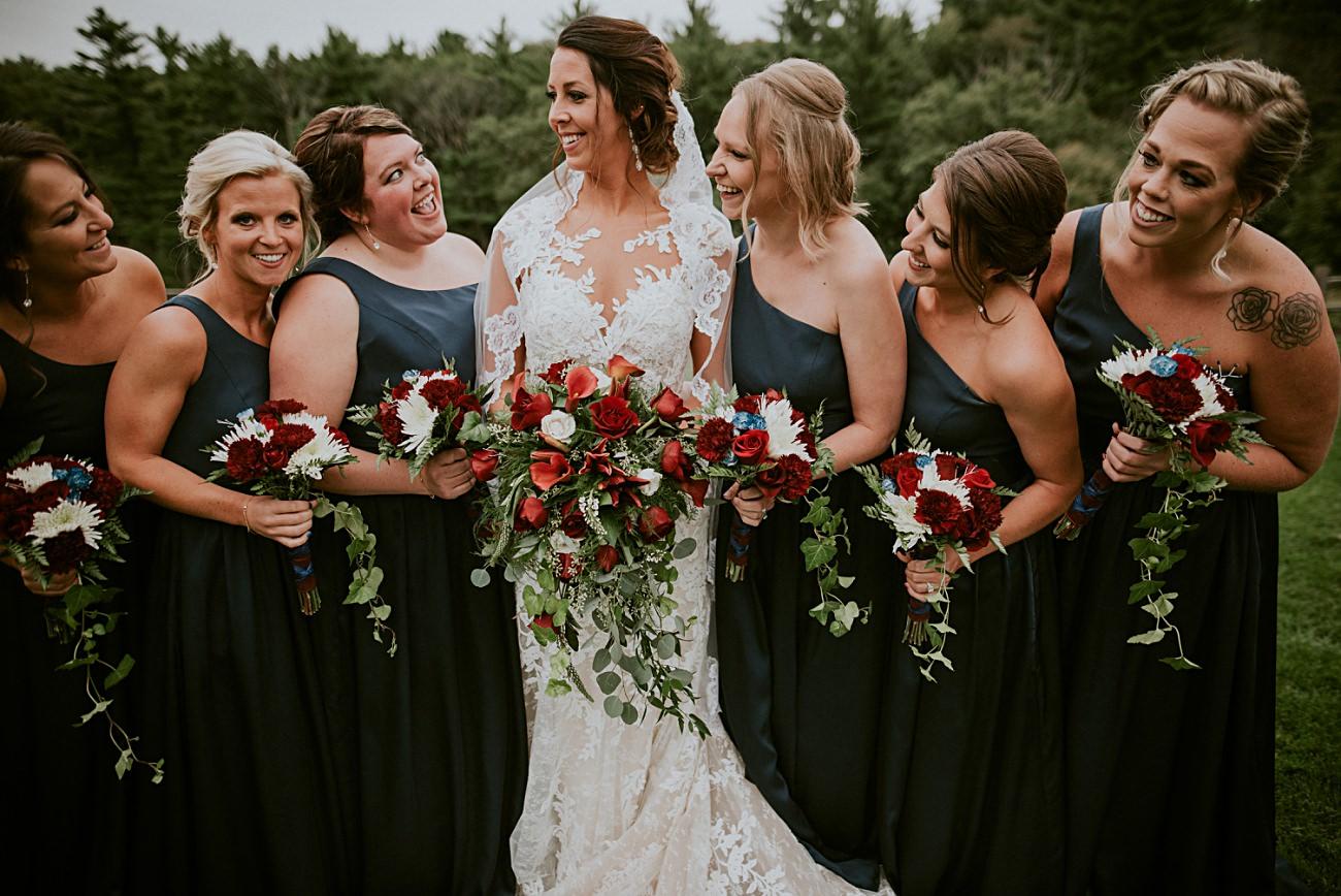 Wisconsin Dells Wedding,, Lace Wedding Dress, Madison WI Photographer, Wedding Party Photos