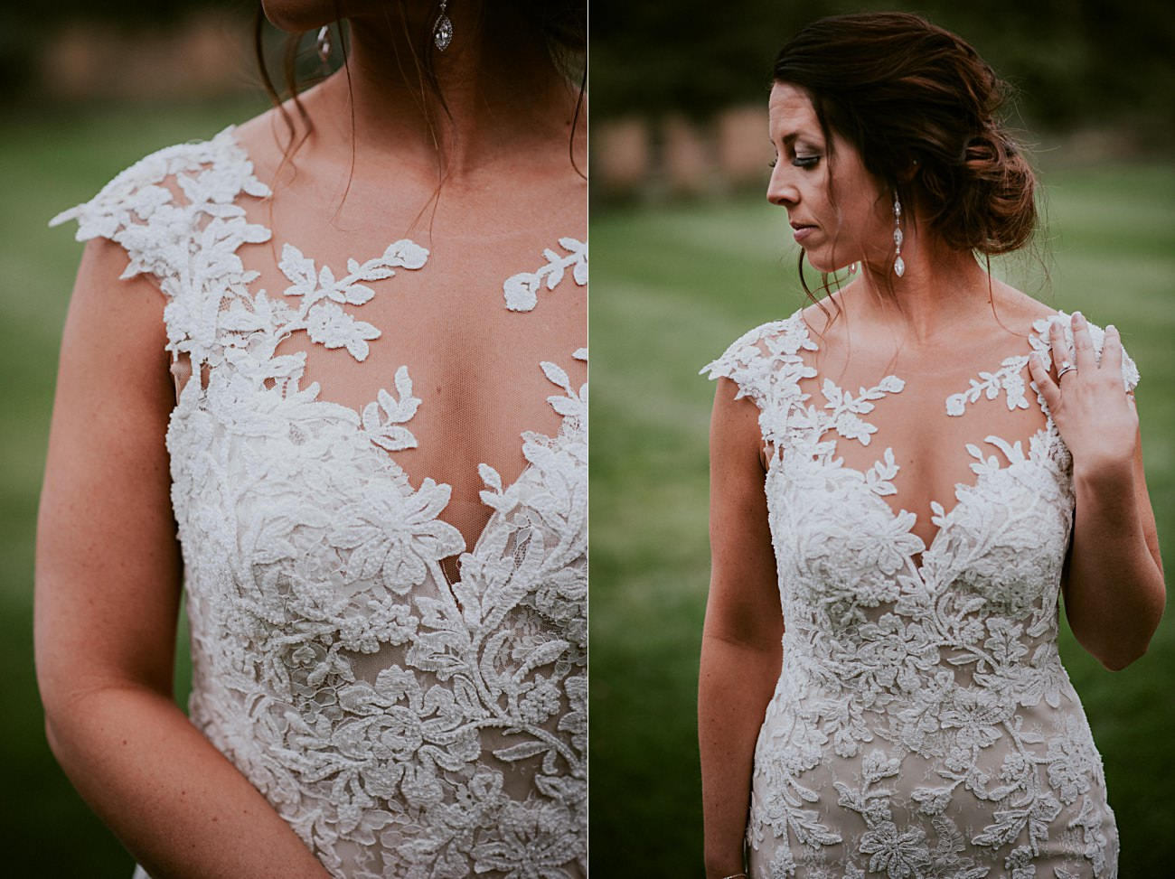 Wisconsin Dells Wedding,, Lace Wedding Dress, Madison WI Photographer,, Bride and Groom Photos, Grey suit for groom