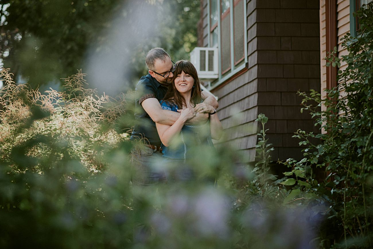 In home session, backyard engagement, milwaukee engagement session - milwaukee wedding photographer