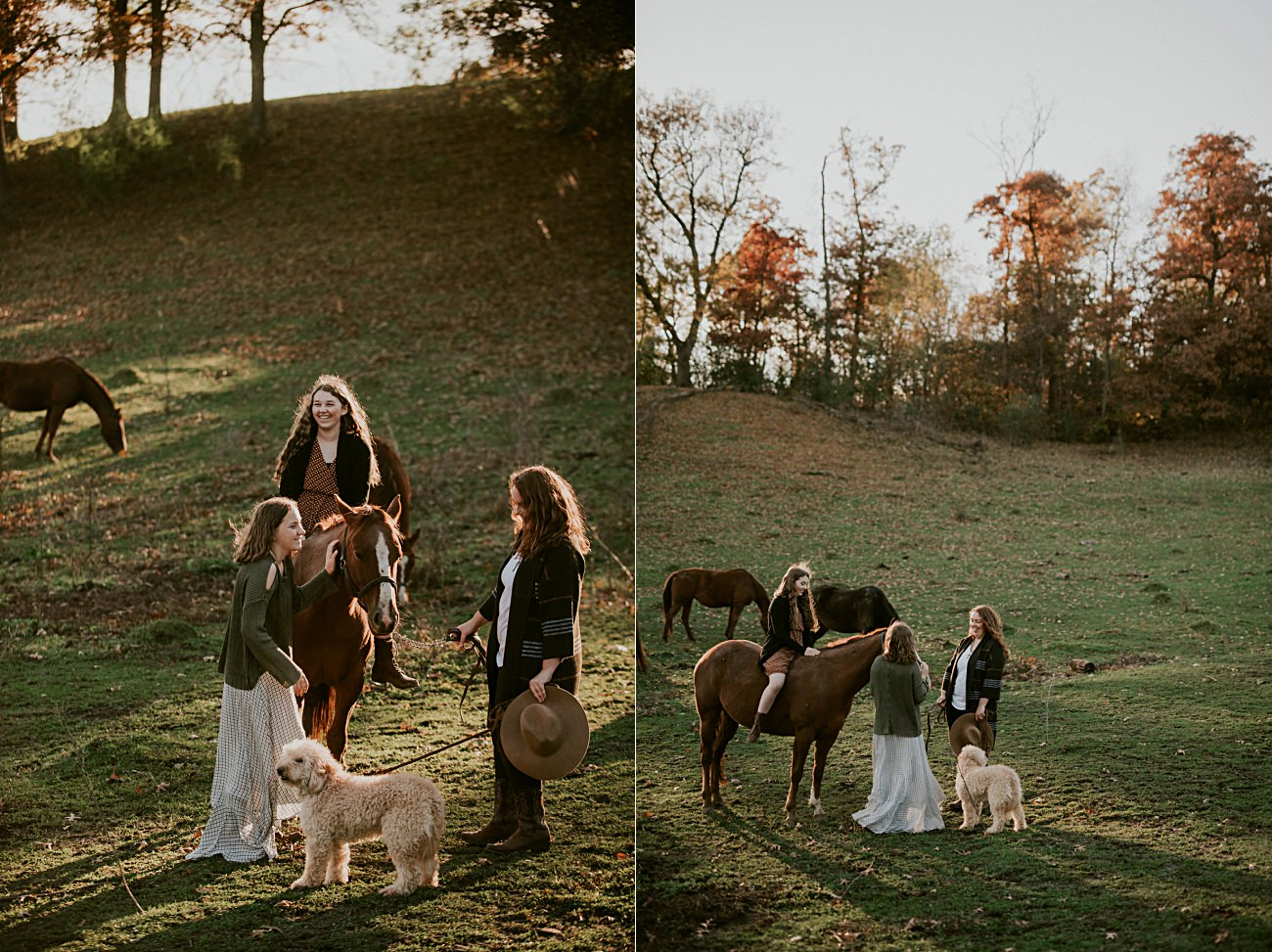 Family Session with Horses, Fall Family Session, Mother Daughter session, Madison WI Photographer