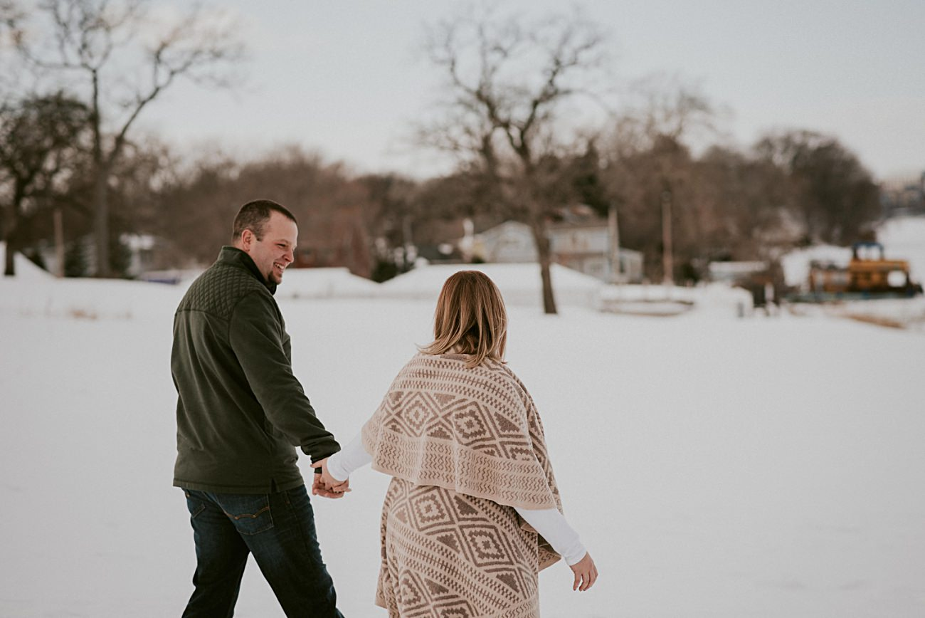 Winter Engagement in Olin Park Madison Wisconsin, Winter Wedding Photographer