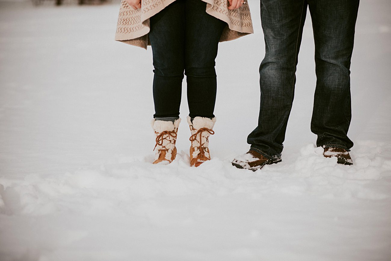 Sorell Boots, Engagement Ring Ideas, Winter Engagement in Madison Wisconsin