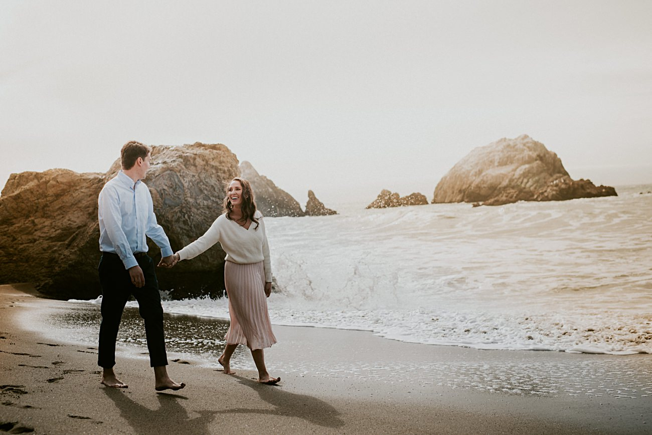 Beach Engagement, Sutro Baths Engagement Session, California Engagement Session, What to wear to engagement Session, Woodsy Engagement, California Engagement