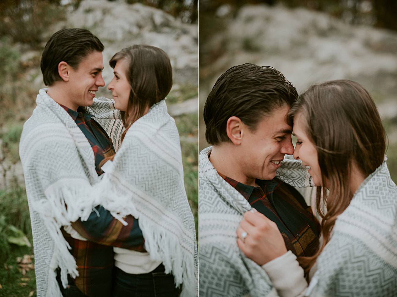 Woodsy Fall Engagement Session on top of a Mountain in Wisconsin, Wausau Wedding Photographer