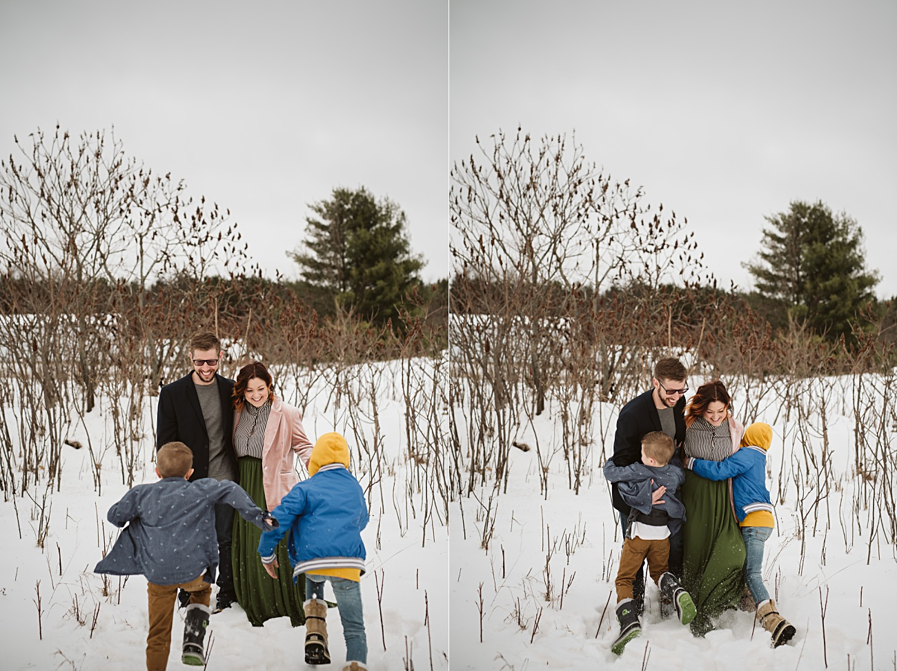 Wisconsin Family Photographer - winter family session