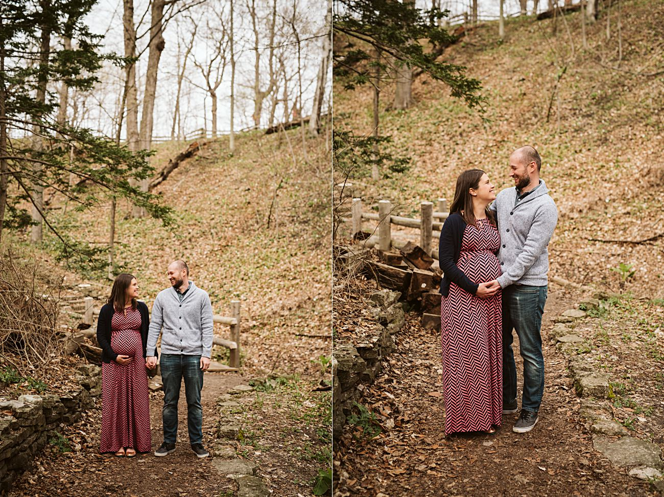 Maternity Photography in Milwaukee Wisconsin, Milwaukee Family Photographer, Woodsy Maternity Session, Natural Intuition Photography